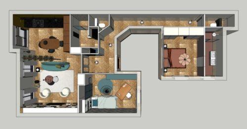 Agencement et aménagement d'un appartement à Montreuil